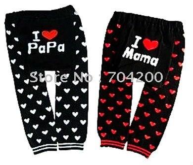2 шт.-i love mama& i love papa/детские штаны/Детские леггинсы/детские брюки/Детские модельные леггинсы с буквенным принтом