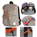 High quality Laptop Backpack linen material notebook bag  school Bag 15 15.4 15.6  For Macbook Pro Air universal