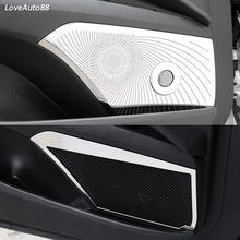 Stainless Steel Car Interior Door Stereo Speaker Audio Ring Cover Sound Frame Decoration Trim For Toyota Camry 2018 2019 2020