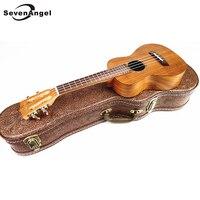 SevenAngel 26 Тенор укулеле 4 strings Гавайская гитара Топ Панель для твердого дерева акации КоА Электрический Ukelele с пикап EQ