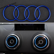 Yimaautotrims Air Conditioning AC Outlet Vent Cover Trim For Audi Q2 2017 - 2019 / A3 2014 2018 S3 Interior Kit