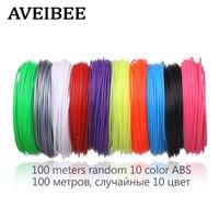 100 Metrów 10 Kolor 3 D Materiał 1.75 MM Włókna ABS dla Plastikowe Materiały Eksploatacyjne Do Drukarek 3D Drukowanie Pen Wątki na Urodziny prezent