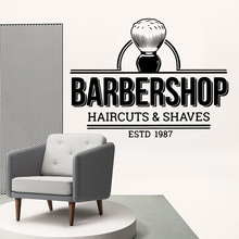 Free shipping barber shop Wall Stickers Decorative Sticker Home Decor For Kids Rooms Diy Decoration Art Decal