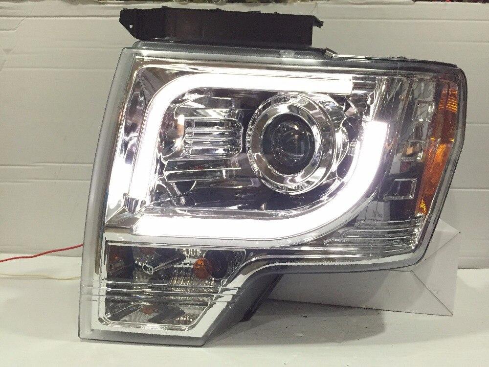 vland factory For F150 Raptor LED Strip LED Turn signal led Head Lamp Headlights front light 2008 2009 2012
