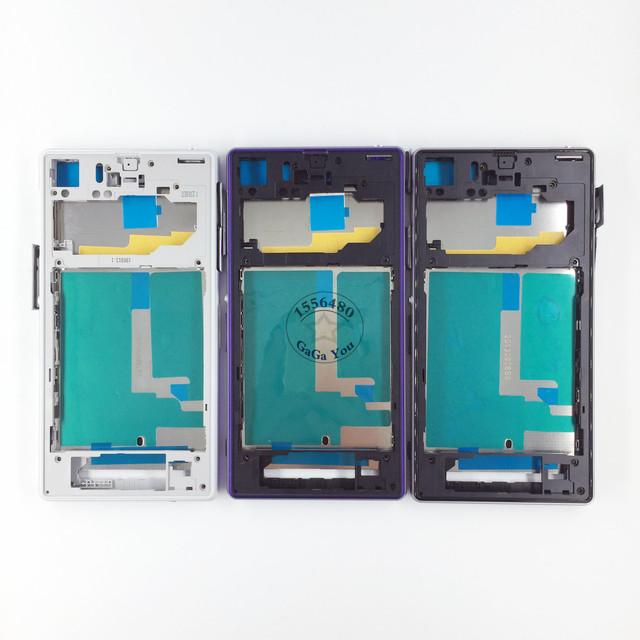 Para sony xperia z1 l39h c6903 c6943 lcd frontal habitação moldura da placa com porta de carregamento tampa do botão de volume de energia