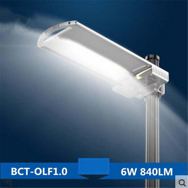 New Ultra thin Solar Powered 6W all in one Solar LED Street Light ...