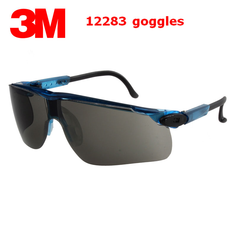 3M 12283 safety glasses Genuine security 3M protective goggles fashion gray Anti-fog Anti-UV Riding a sport gafas de seguridad настенно потолочный светильник коллекция dalila 48430 8d хром белый globo глобо