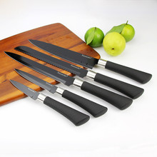 SUNNECKO 5PCS Kitchen Knife Set Non-stick Blade Stainless Steel Knives Chef Utility Bread Slicing Paring Sharp Cutter Tool