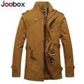 Joobox 2017 nueva trinchera hombres de la capa, grueso abrigo para hombre, más el tamaño de invierno chaqueta de los hombres, estilo británico gabardina ropa de marca (fy-4g5)