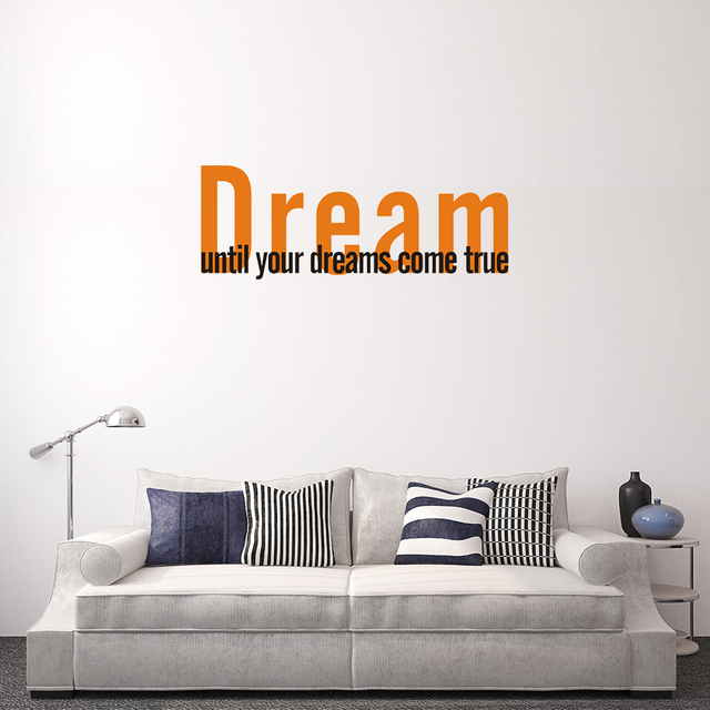 Online Shop New Custom Vinyl Decals Quote Saying Dream Wall - Custom vinyl wall decals saying