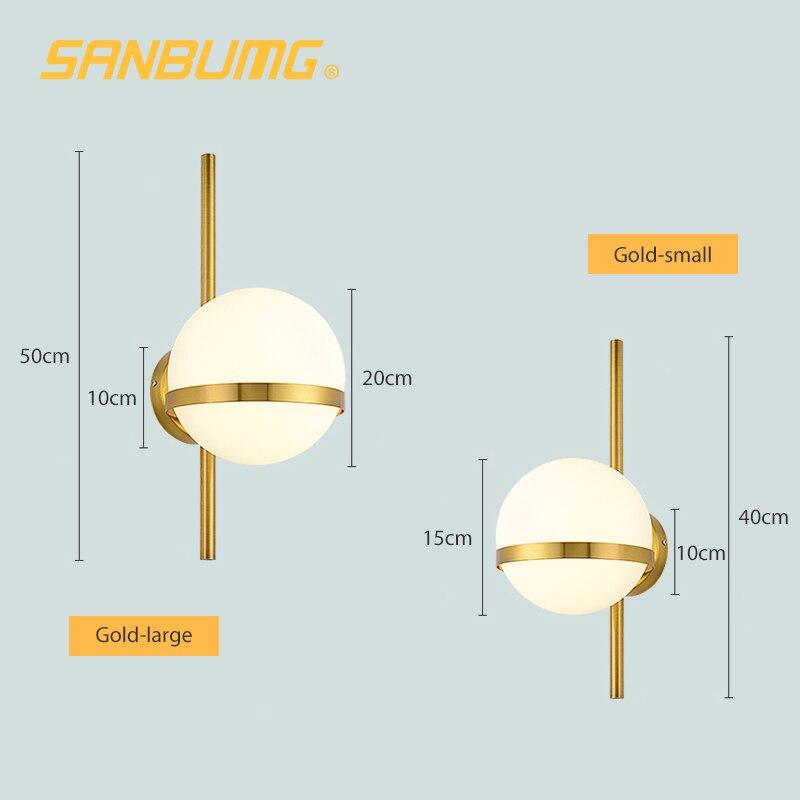 criativo moderno arandela lua redonda lampada cabeceira 03