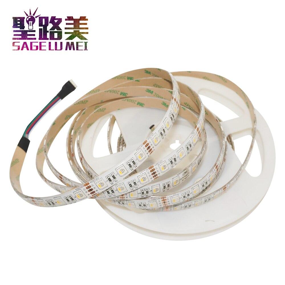 5M DC12V RGBW /RGBWW 4 color in 1 led chip LED Strip, SMD 5050 flexible light RGB+White /warm white,60Leds/m IP30/65 Waterproof