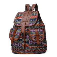 Brand Women Backpack Vintage Canvas School Bag Female Travel Bags Large Capacity Laptop