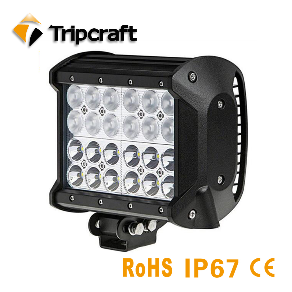 4 row 72w led bar combo car lamp for Boat off road truck tractor SUV ATV 4WD 4x4 worklights 12V 24V HIGH LOW BEAM 6000K FOG lamp weketory 17 inch 108w led work light bar for tractor boat off road 4wd 4x4 12v truck suv atv spot flood combo beam with wiring