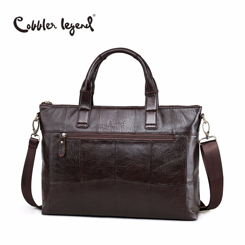 Cobbler Legend Brand New Men's Briefcase Bags Genuine Leather Bag Male Crossbody Bags Leather For Laptop Man Big Business Bag цена