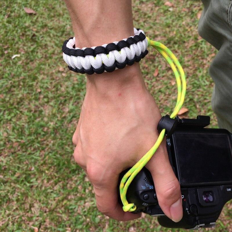 Anti-perso Colorata Manuale Ha Tessuto Tracolla Intrecciata Tattico DSLR Belt Waist Strap per la Macchina Fotografica