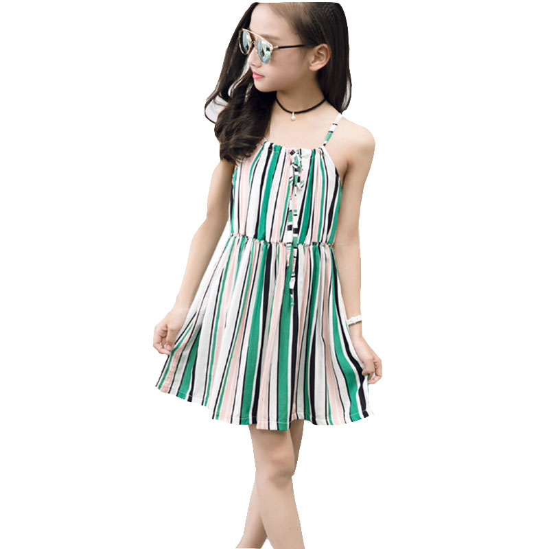 Beach Girls Dress Summer Bohemian Striped Clothes For Baby ...
