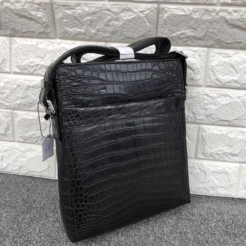 High-end Genuine Crocodile Belly Skin Businessmen Small Crossbody Shoulder Bag Authentic Alligator Leather Male Messenger Bag
