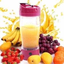 650 ml de gran capacidad eléctrica automática auto agitación taza uno mismo que revuelve la taza de jugo de fruta exprimidor batidora 4 colores