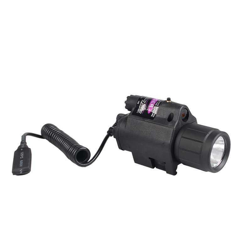 "2in1 טקטי LED Airsoft פנס אדום ירוק לייזר Sight לפיד קומבו לגלוק עבור 20 מ""מ Picatinny רכבת הר AR RL8-0001"