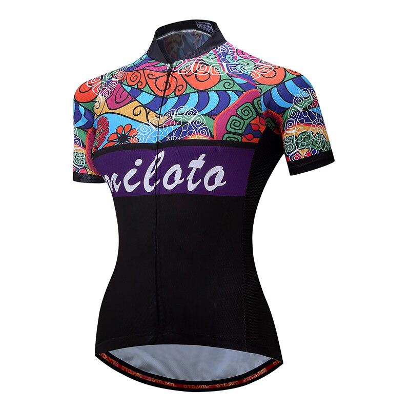 2017 MILOTO Ropa Ciclismo Cycling <font><b>Jersey</b></font> <font><b>women</b></font> Bike <font><b>jersey</b></font> Clothing mtb racing team summer breathable Sportswear pro shirts