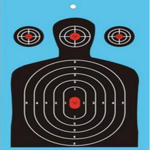 Shooting targets paper Splatter Targets for shooting - Instantly See Your Shots Burst Bright Florescent tag