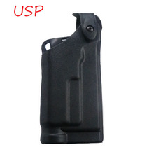 Tactical HK USP Compact Gun Carry Case Belt Holster Flashlight Bearing RH Military Hunting Airsoft Quick Drop