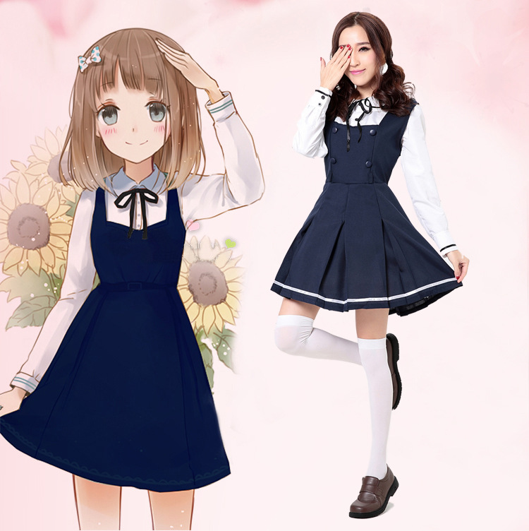 Japanese Anime Elite School Student Costume Hen Party Cute Maid Cosplay Dress Outfit