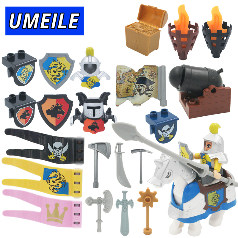 UMEILE Brand Original War Pirate Princess Military Weapon Large Building Blocks Baby Toys Brinquedo Compatible with Duplo 8 in 1 military ship building blocks toys for boys