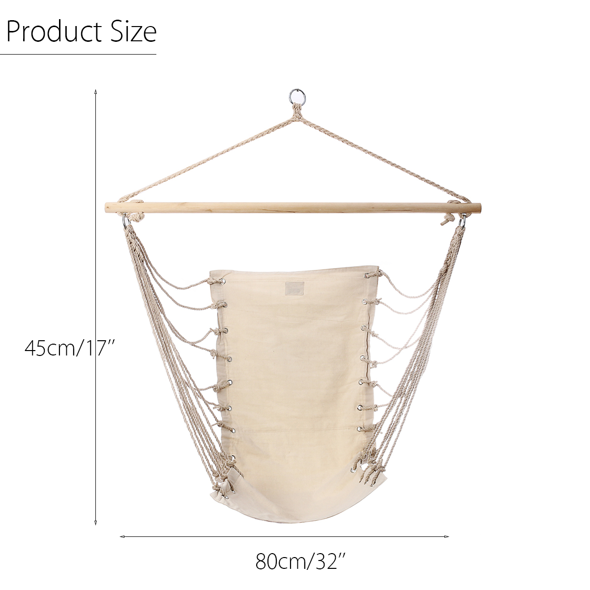 Transportable Backyard Hanging Cotton Hammock Chair Tenting Single Swing Seat Stress-free Furnishings For Baby Grownup Swinging Security Chair HTB1FmBfiIIrBKNjSZK9q6ygoVXal
