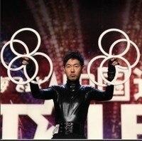 Darmowa wysyłka osiem ring-żonglerka (4 sztuk), etap bliska ulica hurtowych magiczne sztuczki łatwe magiczne sztuczki