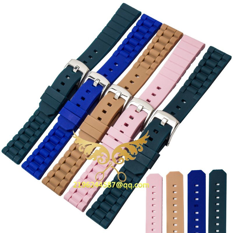 Watches Accessories Blue Men s and Women s Rubber Strap 20MM Waterproof Silicone Pin Buckle Watchbands