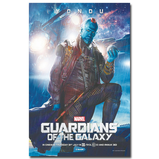 YONDU – Guardian of The Galaxy Art Silk Fabric Poster Print 13X20 inch Superheroes Movie Picture for Room Wall Decor 33