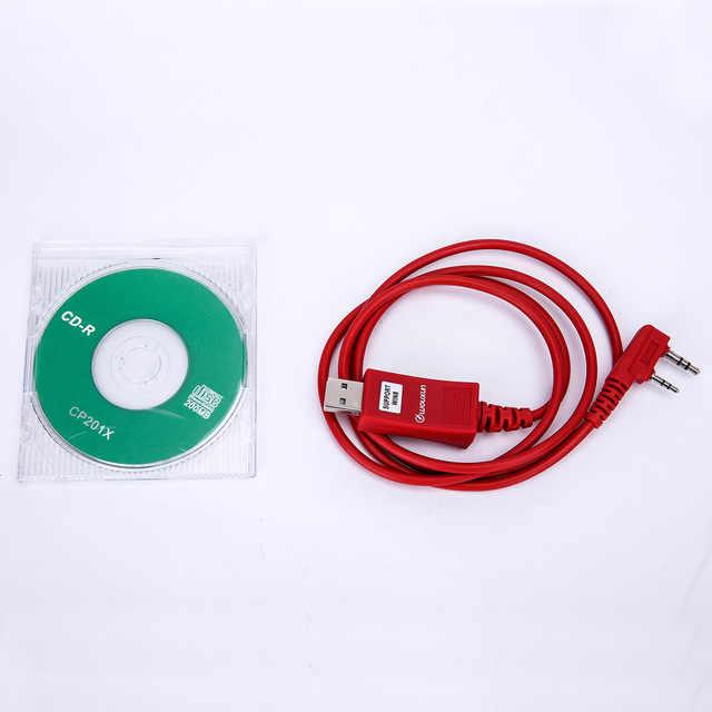 Câble de programmation USB Wouxun avec Support CD logiciel win7/8/10 pour KG-UVD1P Wouxun KG-UV8D/E KG-UV9D Plus talkie-walkie