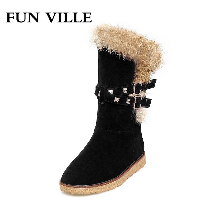 Nubuck Chaussure mollet gray Apricot Ville Appartements De Confortable  Plate forme Chaussures Fun Bottes Femmes black ... d702d7a07de6