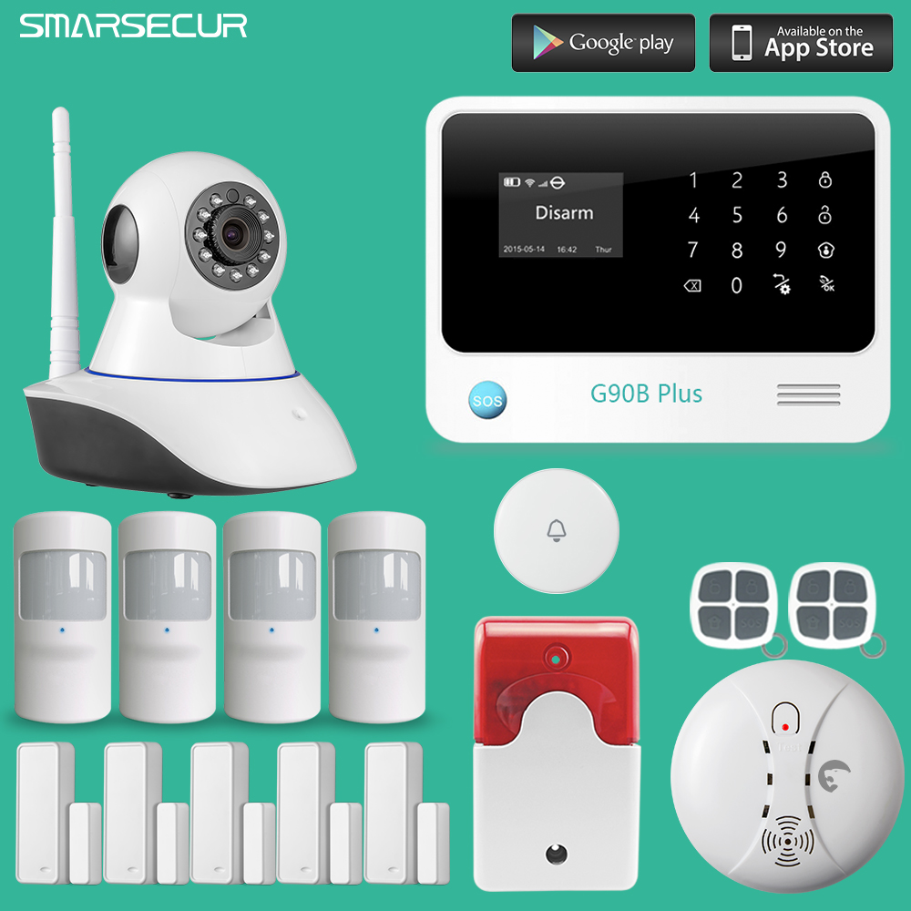 Security Russian/Spanish/English/French voice WiFi Alarm System Home Security GSM Alarm System with HD IP Camera разговорник для англоговорящих english russian phrase book