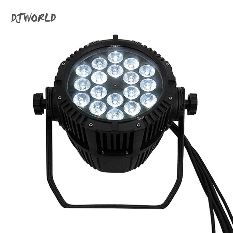 Waterproof LED Par 18x18W RGBWA+UV DMX512 Stage Lighting Effect Master-Slave  Outdoor Lights IP65 Indoor/Outdoor Using Disco DJ