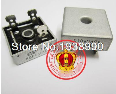 free shipping 50pcs 50A 1000V Metal Case Bridge Rectifier SEP KBPC5010
