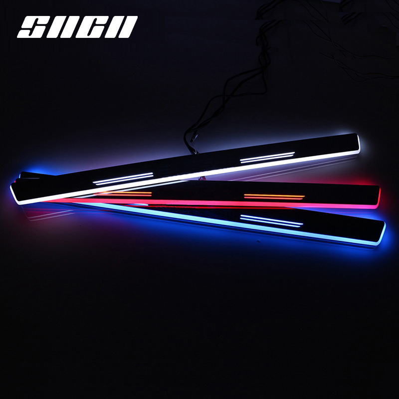 SNCN Trim Pedal LED Car Light Door Sill Scuff Plate Pathway Dynamic Streamer Welcome Lamp For <font><b>Mercedes</b></font> <font><b>Benz</b></font> <font><b>W204</b></font> <font><b>C200</b></font> 2008-2013 image