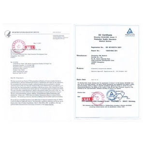 Image 5 - Aguja de acupuntura desechable, 500 Uds., Zhongyan Taihe, aguja estéril, masajeador de acupuntura para belleza
