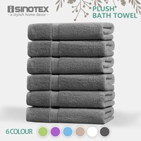ISINOTEX 100% Egyptian Cotton Bath Towel 70x140cm 6 Colors Quick Dry Adults Washclothes Gift Wrapping 620GSM 6packs