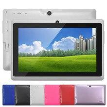 5 Colores 8 GB Q88 7 pulgadas Tablet PC Allwinner A33 Quad-Core 512 MB/8 GB 1024×600 WIFI de Doble Cámara 2800 mAh de la tableta con bluetooth