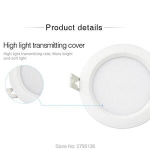 Image 4 - 6 واط RGB + CCT إضاءة مقاومة للماء النازل FUT063 IP54 220 فولت راحة led لوحة السقف المستديرة بقعة ضوء داخلي غرفة المعيشة الحمام