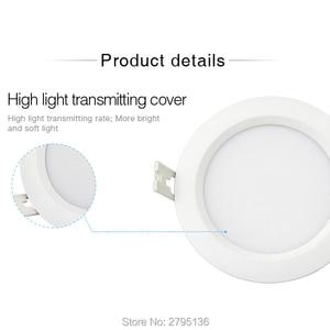 Image 4 - 6ワットrgb + cct防水ledダウンライトFUT063 IP54 220 12v凹型ledラウンド天井パネルスポットライト屋内リビングルームのバスルーム