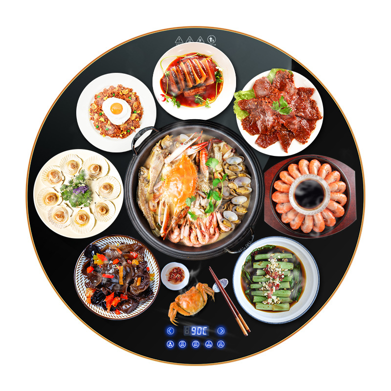 Cooking Warm Board Hot Dish Plate Home Table Heating Cup Warmer Meals Insulation Board Rotary Kitchen Appliance