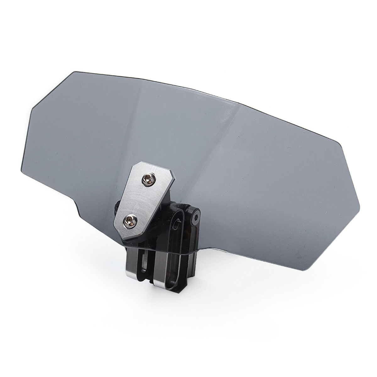 Всеобщая ЧПУ Алюминий Мотоцикл Регулируемый клип лобового стекла расширение спойлер ветер Экран отражающая спойлер ветроотражатель