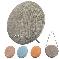12W Bluetooth Speaker With Belt 2016 New Portable Wireless Cloth Cover Canvas Speakers Column Beoplay For