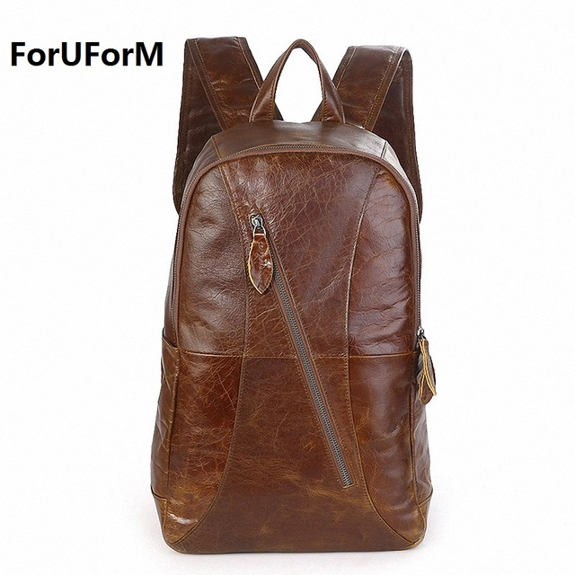 Aliexpress.com : Buy New Fashion Men's Genuine Leather Backpack ...