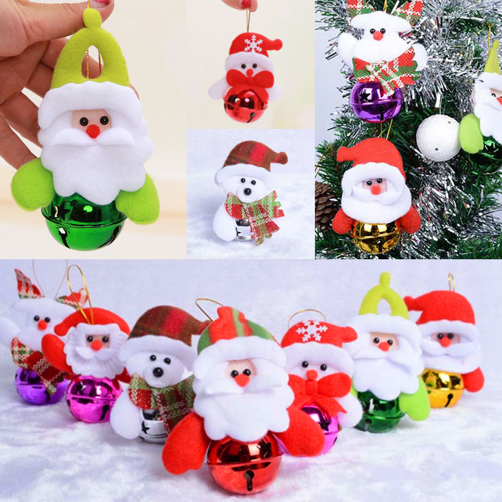 Metal christmas ornament tree - 1pcs Mix Colors Loose Beads Small Jingle Bells Christmas Decoration Xmas Ornament Tree Hanging Gift Wholesale