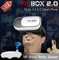 "New Google cardboard HeadMount VR BOX 2.0 VR Virtual 3D Glasses for 3.5"" - 6.0"" Smart Phone + Bluetooth Remote Controller"